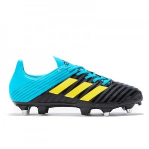 adidas Malice - Soft Ground Rugby Boot - Black/Yellow/Aqua