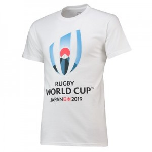 Rugby World Cup 2019 Large Logo T-Shirt - White - Mens