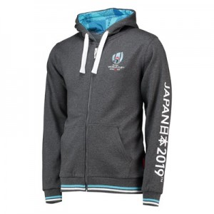 Rugby World Cup 2019 Zip Through Hoodie - Charcoal - Mens