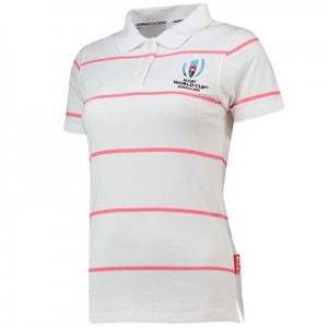 Rugby World Cup 2019 Stripe Polo - White - Womens