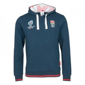 Rugby World Cup 2019 England Overhead Hoodie - Navy - Mens