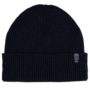 England Ribbed Cashmere Beanie - Navy - Adult