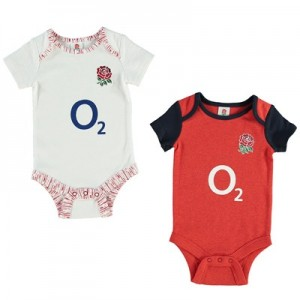 England 2019/20 Kit 2 Pack Bodysuits - White/Red