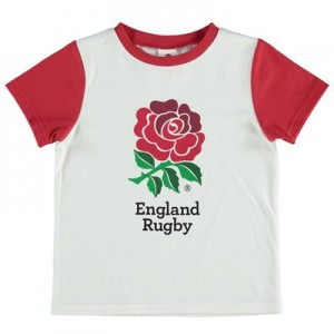 England Rose Print T-Shirt - White/Red - Infant
