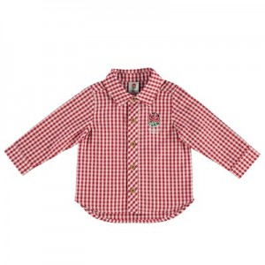 England Check Shirt - White/Red - Baby