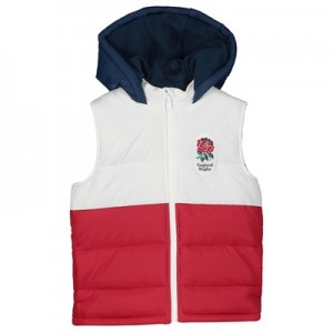 England Panel Gilet - White/Red/Navy - Infant