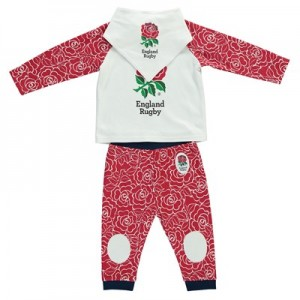 England Rose Print 3 Piece Pyjama Set - White/Red