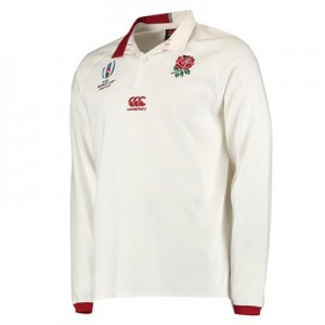 England RWC 2019 Vapodri Home Classic Shirt - Long Sleeve