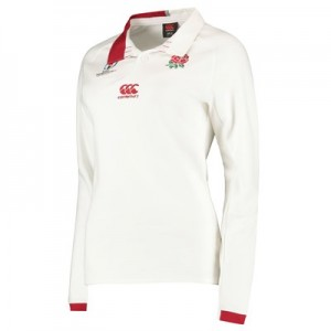 England RWC 2019 Vapodri Home Classic Shirt - Long Sleeve - Womens