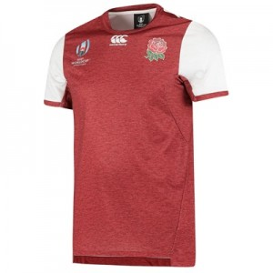 England RWC 2019 Vapodri+ Drill T-Shirt - Red