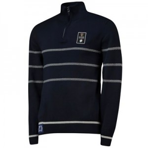 Guinness 6 Nations 19 1/4 Zip Jumper - Navy - Mens