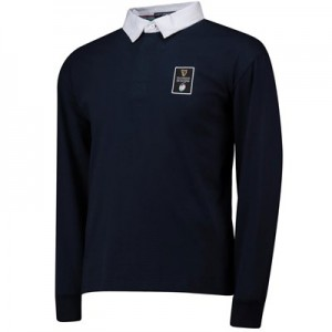 Guinness 6 Nations 19 Long Sleeved Rugby Shirt - Navy - Mens
