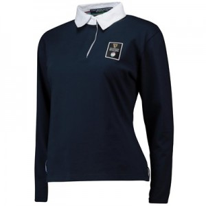 Guinness 6 Nations 19 Long Sleeved Rugby Shirt - Navy - Womens