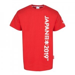 Rugby World Cup Script T-Shirt - Red - Mens