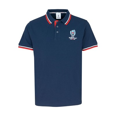 Rugby World Cup Pique Polo - Navy - Mens