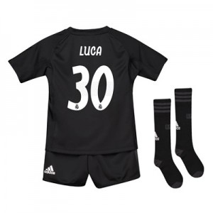 Real Madrid Home Goalkeeper Mini Kit 2018-19 with Luca 30 printing