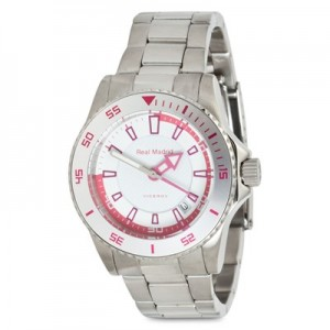 Real Madrid Stainless Steel Watch - Junior - White/Pink