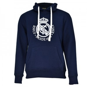 Real Madrid Tonal Crest Hoodie - Navy - Mens