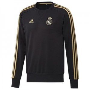 Real Madrid Training Sweat Top - Black