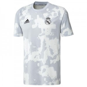 Real Madrid Pre Match Shirt - White/Grey