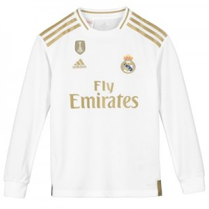 Real Madrid Home Shirt 2019-20 - Long Sleeve - Kids