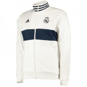 Real Madrid 3 StripesTrack Top - White