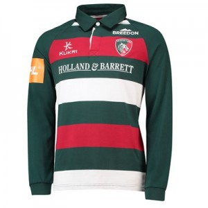 Leicester Tigers Home Classic Shirt Long Sleeve 2018/19 - Mens