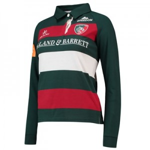 Leicester Tigers Home Classic Shirt Long Sleeve 2018/19 - Womens