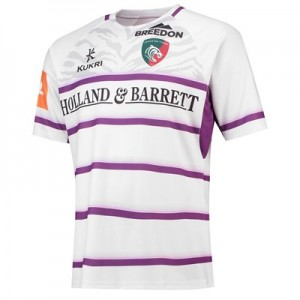 Leicester Tigers Alternate Replica Shirt 2018/19 - White/Purple - Mens