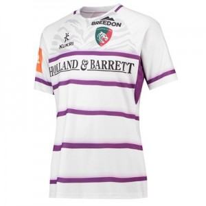 Leicester Tigers Alternate Replica Shirt 2018/19 - White/Purple - Womens