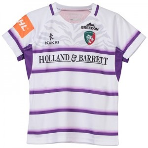 Leicester Tigers Alternate Replica Shirt 2018/19 - White/Purple - Junior