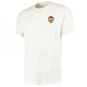 Valencia CF Embroidered Crest T-Shirt - White - Mens